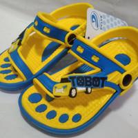 Sepatu Sandal Tobot#Sepatu Sandal Jepit Tobot Karakter Mobil Tobot