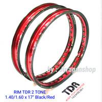 VELG TDR 2 TONE W shape 140&160 ring 17 BLACK/RED