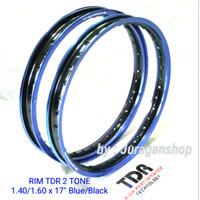 VELG TDR 2 TONE W shape 140&160 ring 17 BLUE/BLACK