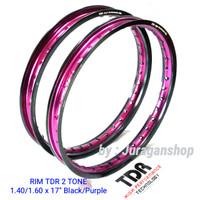 VELG TDR 2 TONE W shape 140&160 ring 17 BLACK/PURPLE