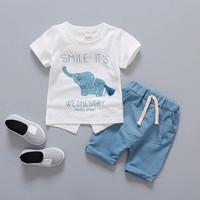Setelan baju anak bayi gambar gajah elephant