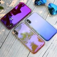 Gradient Case iPhone X 5 5s 6 6s 7 8 Plus Blue Ray Aurora Hardcase