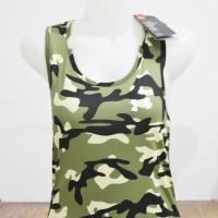 Baju Singlet Gym Fitness Senam Yoga Import Wanita Army