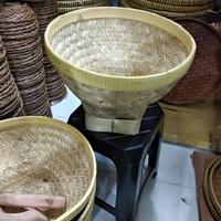 Bakul nasi /cuci beras kulit bambu tinggi 30 cm diameter 36cm