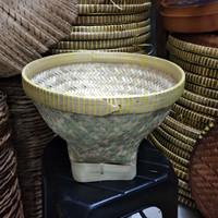 Bakul nasi /cuci beras kulit bambu diameter 30cm tinggi 23cm