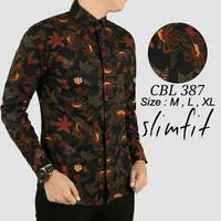 Trend BATIK Baju Batik Pria Slim Fit Modern Lengan Panjang D198