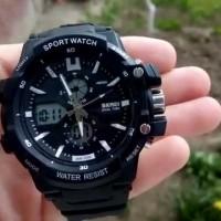 SKMEI Sport Watch 0990 Asli Water Resistant 50M - Black