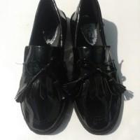 Sepatu Flat Shoes cewek Docmart Maroon Hitam Fashion Jepang Kekinian