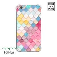 Casing Case Colorful Pattern Oppo F3 Plus, A37 Anti Crack Anticrack