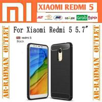 Xiaomi redmi5 redmi 5 5.7 inchi ipaky carbon casing case armor cover