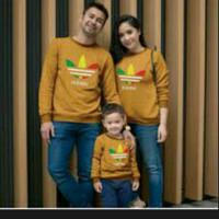 Couple pasangan Family Kaos Atasan Baju Adidas Dad Mom Kids kuning abu