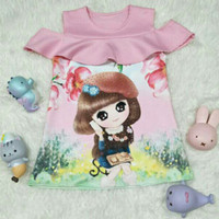 Baju anak Dress Scuba import Sabrina(5-8 th)
