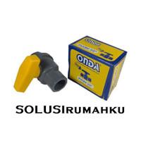 Ball Valve PVC ONDA 1/2 Stop Kran Gagang PVC 1/2 Inch Stop Keran PVC