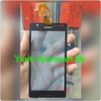 Touchscreen Sony Xperia ZR Original - Hitam