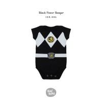 Hey Baby Black Power Ranger Romper Jumper Bayi