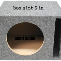 box speaker 6 inch slot subwoofer universal slot vented Port sub