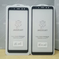 Tempered Glass, Anti Gores Kaca Full Cover Samsung A8, A8 Plus 2018