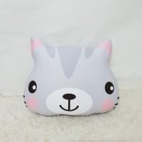 Boneka Plushie Cat / Kucing - Grey Pony size Large
