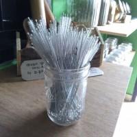Sikat Sedotan Bambu / Stainless