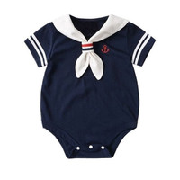 Pakaian baju romper bayi sailor
