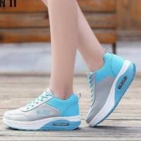 Sepatu Nike Airmax Wanita Murah Biru Abu S10 Kets Air max Casual Spo