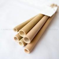 6pcs Bamboo Straw Sedotan Bambu Properti Foto Nicoles Natural