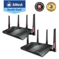 ROUTER ASUS AiMesh AC3100 Dual Band Gigabit Router 2 Pack (RT-AC88U)