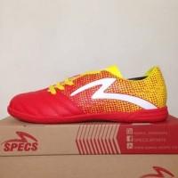 NAO katalog terbaru Sepatu Futsal Specs Equinox IN Emperor Red Yellow