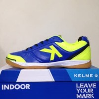 NAO katalog terbaru Sepatu Futsal Kelme K-Strong Royal Blue Lime 55787