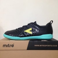 NAO katalog terbaru Sepatu Futsal Mitre Optimize IN Black Yellow Lite