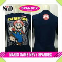Baju Kaos Navy Super Mario Game Kartun Jadul Pria Wanita
