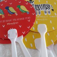 Souvenir Murah Kipas Ulang Tahun Bulat Bahan Plastik PVC Tebal