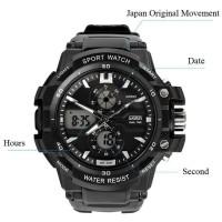 SKMEI Sport Watch 0990 Original Water Resistant 50M - Black^