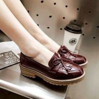 Sepatu wanita slip on sol karet docmart sepatu korean model rumbai
