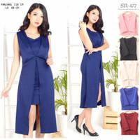 Dress Wanita Murah-Dress Korea Import-Gaun Pesta-Grace Dress - Pink