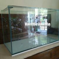 Akuarium aquarium custom ukuran 80x40x50 cm 80 x 40 x 50 kaca 8 10mm