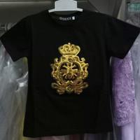 Baju anak tanggung laki import branded kaos gucci black manik blink