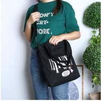 Tas Tote Bag Shoulder Sling Bag Wanita Bahan Kanvas - JC009