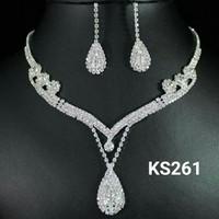 Perhiasan set korea kalung anting panjang - kalung pesta mewah KS261