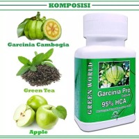 NATURAL SLIMMING CAPSULE GARCINIA PRO GREEN WORLD/ ORIGINAL /DIET