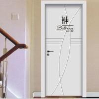 Sticker Pintu Bathroom Shower Toilet Idea Cewek Cowok Unik Dekorasi