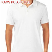 KAOS POLO PUTIH - KAOS POLO KRAH - KAOS POLOS - POLO SHIRT