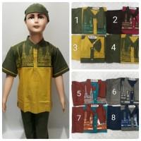 Baju Koko Anak Balita TK pendek Katun free Peci