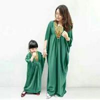 Baju Muslim Couple Mom n Kid Panjang Busana Lebaran Warna Hijau