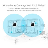 ASUS AiMesh AC1900 WiFi System 2 Pack [RT-AC68U]