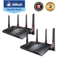 ASUS AiMesh Wireless Router AC3100 2 Pack [RT-AC88U]