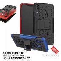 Armor Case Asus Zenfone 5 ZE620KL 5z ZS620KL Hybrid Hard & Soft Casing - Hitam