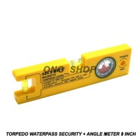 Torpedo Waterpass Security + Angle Meter 8 Inch