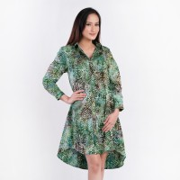 Batik Pria Tampan - Dress A-Shirt Abs F Liquid Crystal - Hijau, M