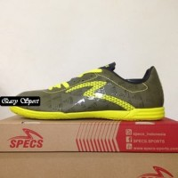 Harga Termurah Sepatu Futsal Specs Quark IN Olive Zest Green 400778 Or